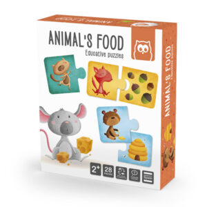 Puzzle Duo Comida Animales – Eureka