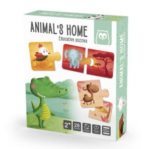 Puzzle Duo Hogar De Animales – Eureka