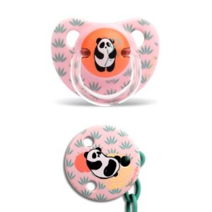 Chupete Anatómico 6-18M + Clip Redondo Panda – Suavinex