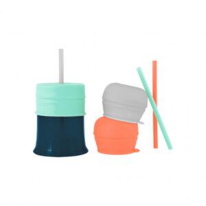 Vaso Con Tapa Y Sorbito Nordico Multi – Boon